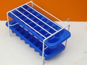 cube tray freezer stack rack set with 2 trays vinyl