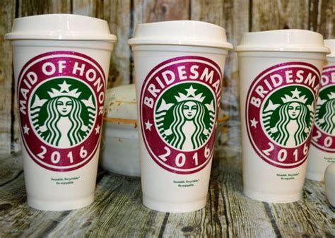 Wedding Gift Ideas Walmart by Bridesmaid Gift Starbucks Coffee Cup Personalized Name