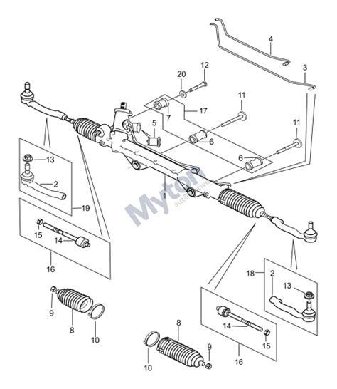 rack and pinion steering diagram jaguar f type steering rack and pinion to 16my diagram
