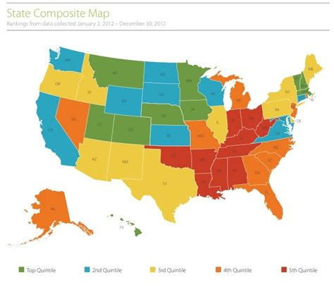 states ranked by happiness paul web logs states of hapiness us world maps