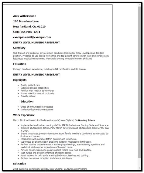 Resume Cover Letter For Nursing Assistant Sle Cover Letter For Resume Nursing Assistant Cover Letter Resume Exles Bbjze9ez9l