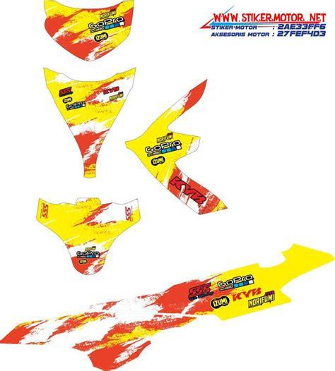 Striping Suzuki Sky Wave Alpinestars 1 striping motor sky wave racing kuning stikermotor net stikermotor net