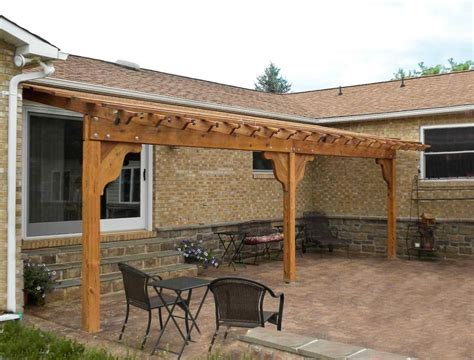 attached pergola pictures garden pergola attached with