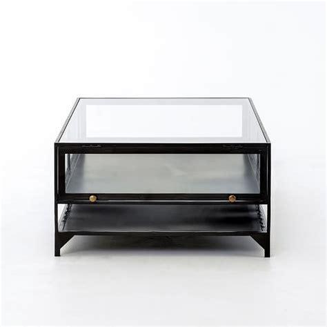 box coffee table shadow box coffee table west elm