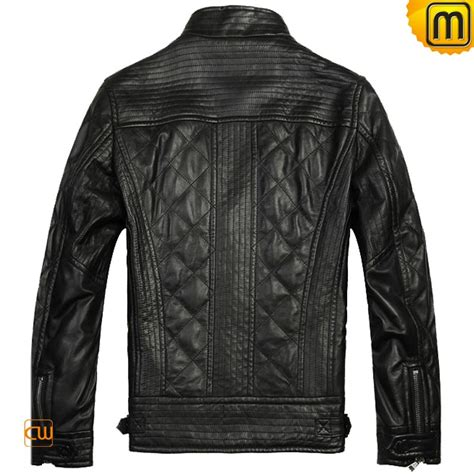 Black Leather Quilted Jacket by Black Quilted Leather Jacket For Cw804052