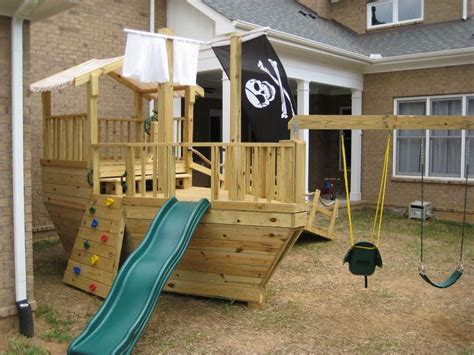 pirate ship backyard playset free pirate ship playset plans woodworking projects plans