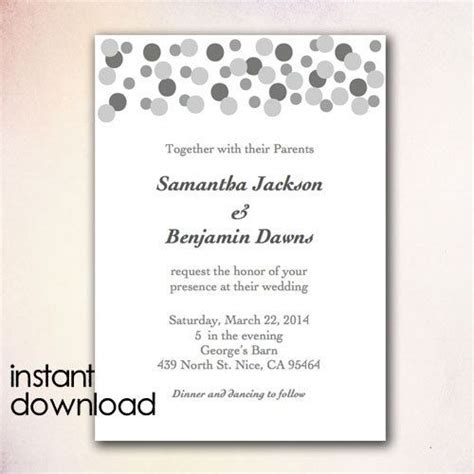 17 best images about instant 17 best images about diy wedding invitation templates