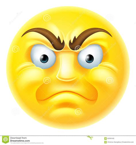 imagenes emoji enojado historieta enojada del emoticon de emoji ilustraci 243 n del