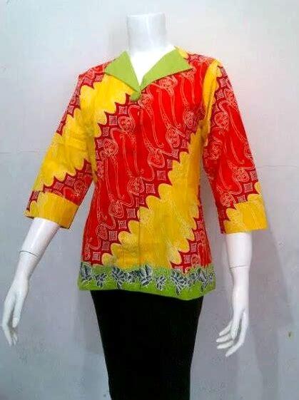 Dress Batik Tulis Kuning 01 blouse batik untuk kerja daniyanti