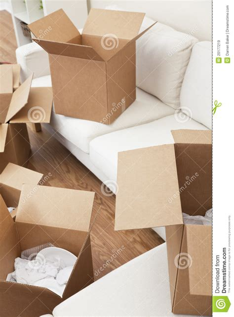 buying boxes for moving house room of cardboard boxes for moving house stock image