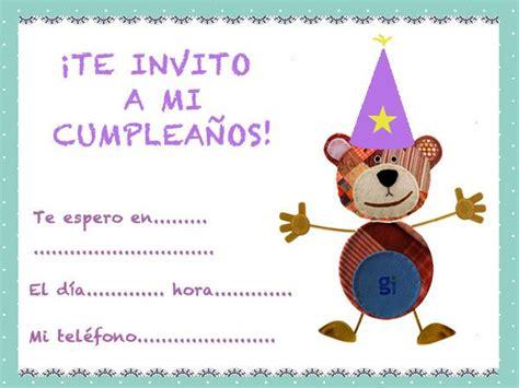 imagenes de invitaciones en ingles invitaciones de cumplea 241 os para ni 241 os con el oso traposo