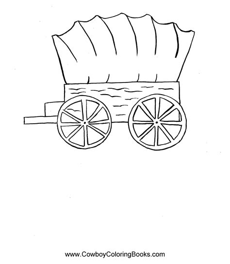 free coloring pages of covered wagons