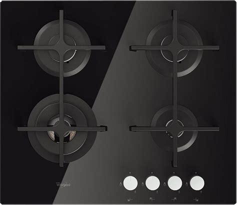 piano cottura 4 fuochi incasso piano cottura 4 fuochi nero vetro whirlpool a gas 60 cm
