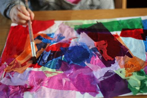 Craft Work With Tissue Paper - tissue paper bleeding the imagination tree