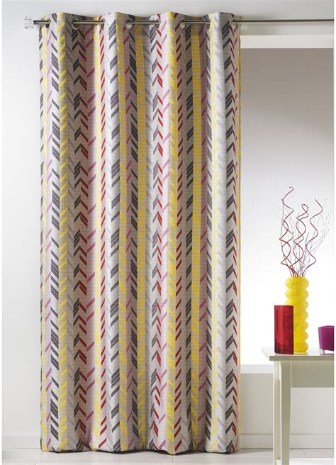 Rideau Bouchara by Rideau Bouchara En Jacquard 224 Rayures Verticales