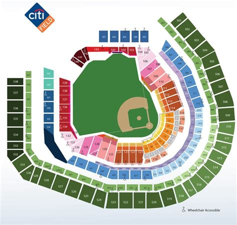 citi field seating diagram citi field ny seating chart view