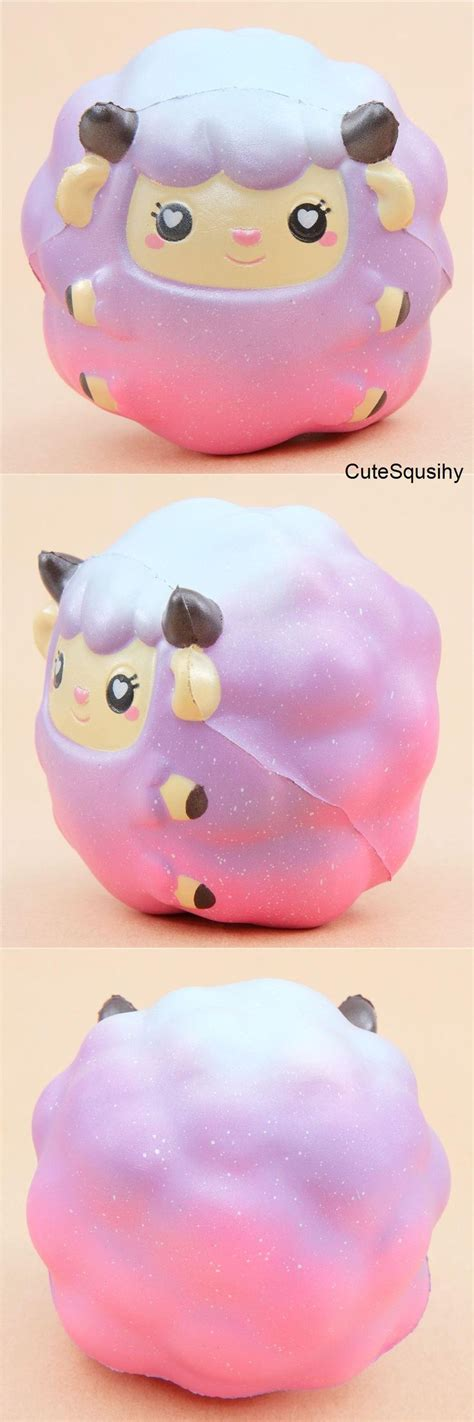 Sheep Squishy By Areedy Squishy scented pink purple blue sheep animal squishy by areedy