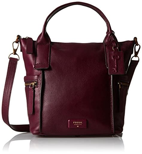Fossil Emerson Maroon Large 1 fossil emerson medium satchel bag maroon one sizecompra