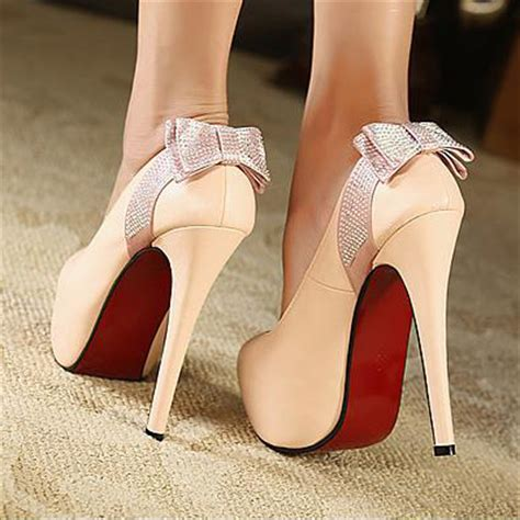 Bow Back Dress A21924 Apricot fashion closed toe back bow tie stiletto high heels