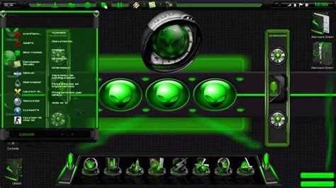 alienware themes for windows 7 green alienware green theme for windows 7 extras youtube