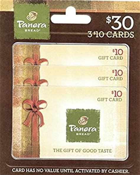 Www Panera Com Gift Card - amazon com panera bread gift cards multipack of 3 10 gift cards