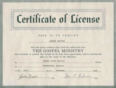 ordination certificate template free ppt file templates