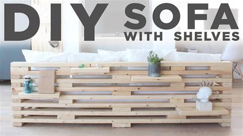 diy sofa  shelves   tool project youtube