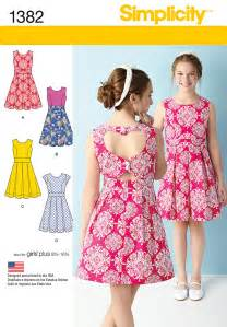 1382 girls girls plus dress with back variations sewing pattern