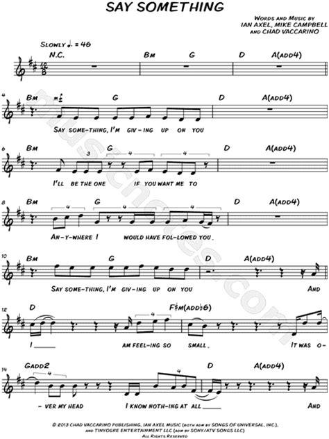 Violin Sheet Music For Say Something Dyrevelferdfo