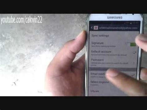 android reset email counter samsung galaxy s4 how to change email password android