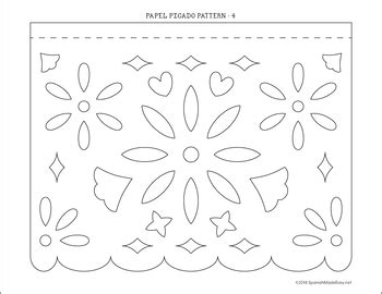 Papel Picado Templates For Kids Archives Southbay Robot Free Printable Papel Picado Template