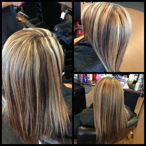 foil weave hair color the chevron foil pattern for more of a chunky look 2