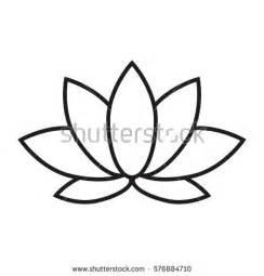 Lines On Lotus Flower Beautiful Lotus Flower Line Illustration Vector Stock