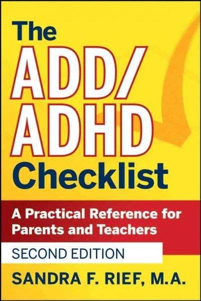 adhd the complete guide to living with understanding improving and managing adhd or add as an books 25 best ideas about adhd checklist on