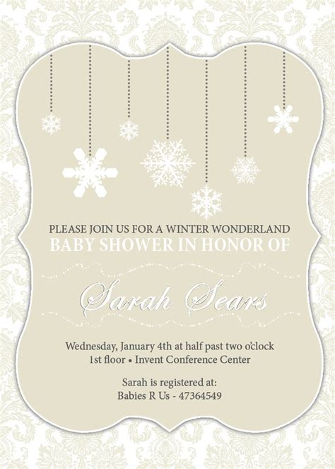 a little snowflake baby shower invitation winter baby shower
