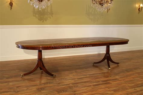 double pedestal dining room tables large oval mahogany double pedestal dining room table with