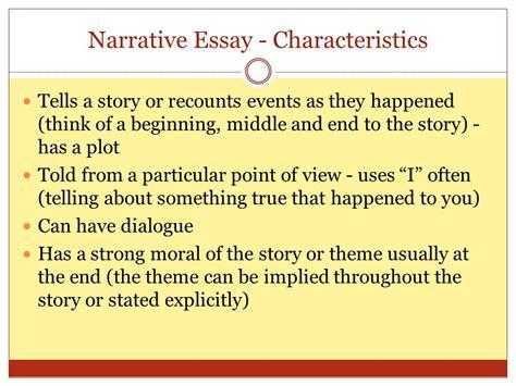 Characteristics Of A Essay by Narrative Essay Using Dialogue