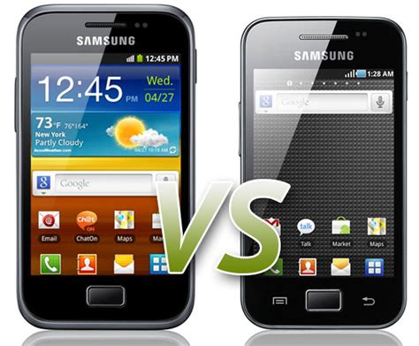 Samsung Galaksi V comparativa samsung galaxy ace plus vs samsung galaxy ace