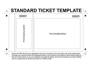 Template For A Ticket by 6 Free Printable Raffle Tickets Template Teknoswitch