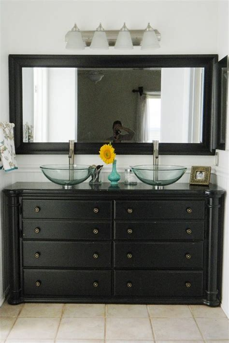 using dresser as bathroom vanity diy dresser to vanity the owner builder network