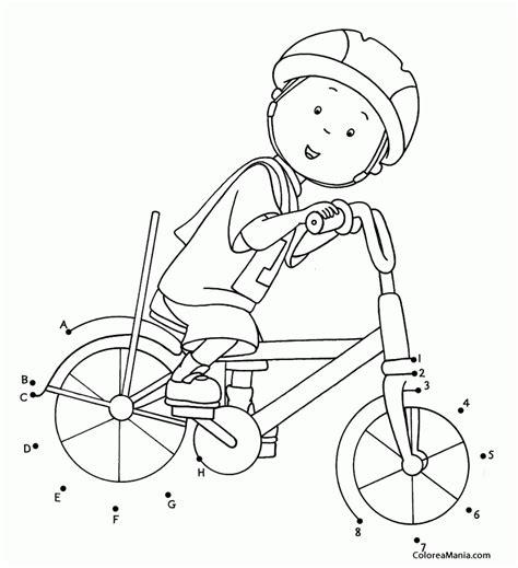 dibujos para colorear caillou bicicleta para colorear www imgkid com the image kid