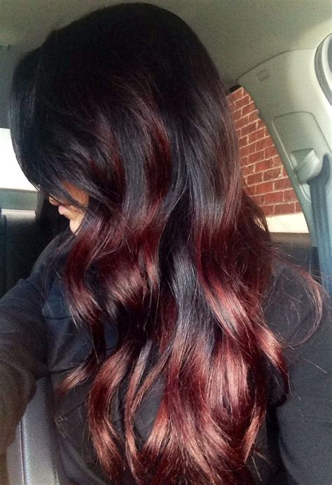 black to auburn fall ombre hair my wishful thinking