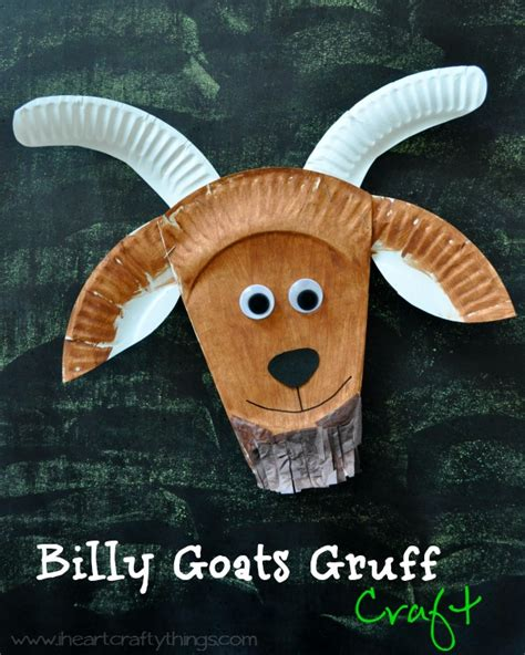 Goat Paper Plate Craft - i crafty things