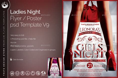 ladies night flyer template v9 by lou606 graphicriver