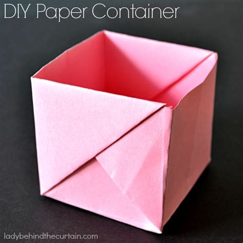 How To Make Paper Containers - diy paper containers
