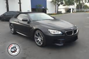 bmw m6 satin black car wrap wrap bullys