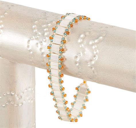 ladder stitch beading patterns easy ladder stitch tila bead bracelet pattern