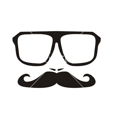 mustache and glasses clipart