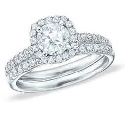 wedding sets big 2 carat halo wedding ring set in 18k
