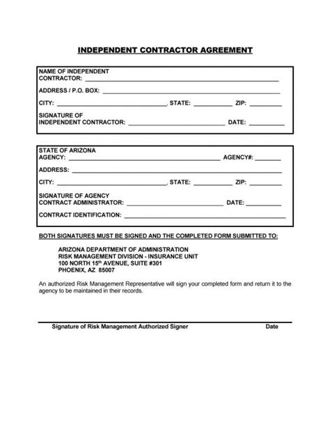 Simple Independent Contractor Agreement Template Business Simple Construction Contract Template